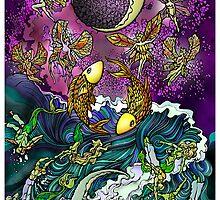 Tarot - (18) Moon by Zach Wong