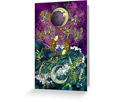 Tarot - (18) Moon Greeting Card