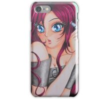Manga Self-Portrait of Artist iPhone Case/Skin