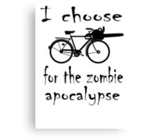 Apocalyptic Bike Canvas Print