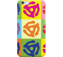 45 RPM Vinyl Record Player Pop Art iPhone Case/Skin