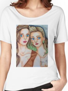 Suicide Girls Portrait  Women's Relaxed Fit T-Shirt