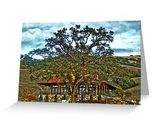 Red Ranch Greeting Card