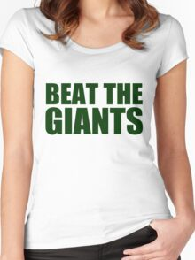 Oakland Athletics - BEAT THE GIANTS Women's Fitted Scoop T-Shirt