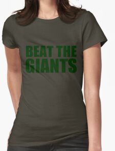 Oakland Athletics - BEAT THE GIANTS Womens Fitted T-Shirt