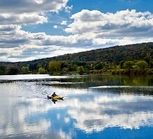 Fall Kayaking Landscape by Christina Rollo
