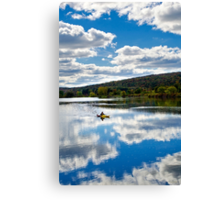 Fall Kayaking Landscape Canvas Print