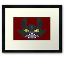 Angry Toothless Framed Print