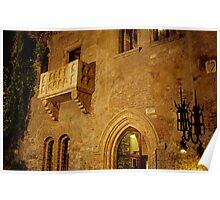 Juliet's Balcony, Verona, Italy Poster