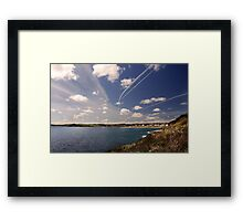 Flight paths across Falmouth, Cornwall Framed Print