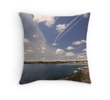 Flight paths across Falmouth, Cornwall Throw Pillow