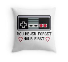 Never Forget Your First Nintendo Throw Pillow