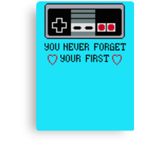 Never Forget Your First Nintendo Canvas Print