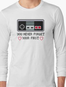 Never Forget Your First Nintendo Long Sleeve T-Shirt
