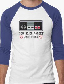 Never Forget Your First Nintendo Men's Baseball ¾ T-Shirt