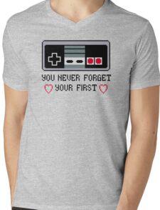 Never Forget Your First Nintendo Mens V-Neck T-Shirt