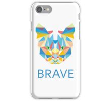 Brave Diamond Cat in Geometrical Triangles Kaleidoscopic Eye iPhone Case/Skin