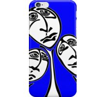 Sunset Shadows in Blue iPhone Case/Skin