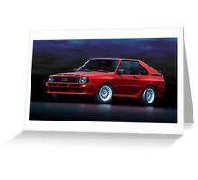 Audi Sport Quattro Greeting Card