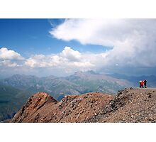 children looking over the alps Photographic Print