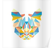 Geometric Diamond Cat Poster