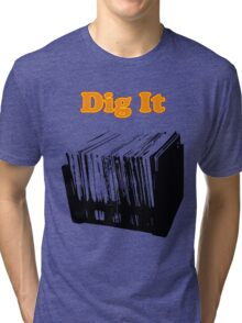 Dig It Vinyl Record Crate Tri-blend T-Shirt