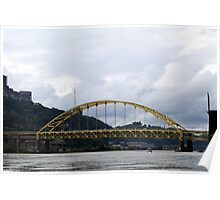 Pittsburgh Tour Series - Bridge from River Poster
