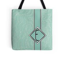 1920s Blue Deco Swing with Monogram letter E Tote Bag