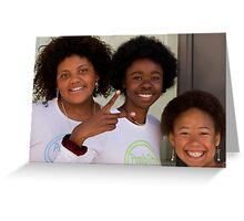 3 girls downtown Greeting Card