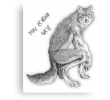 "Good Werewolf - ""May Contain Wolf"" edition Canvas Print"