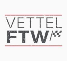 Formula 1's Sebastian Vettel For The Win (Light background) by ApexFibers