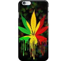 Marijuana Leaf Rasta Colors Dripping Paint iPhone Case/Skin
