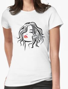 Woman vector hairstyle black design T-Shirt