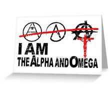 ALPHA OMEGA - THE GREAT PRETENDERS Greeting Card