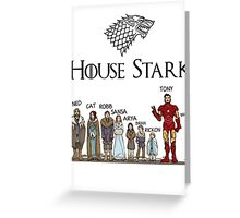 Game of thrones house stark tony stark Greeting Card