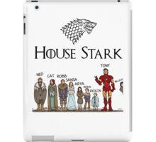 Game of thrones house stark tony stark iPad Case/Skin