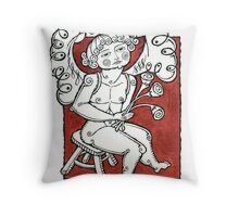 ANGEL WITH FLOWERS Throw Pillow