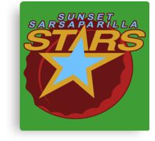 Sunset Sarsaparilla Stars Canvas Print