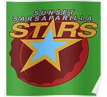 Sunset Sarsaparilla Stars Poster