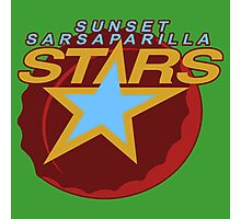 Sunset Sarsaparilla Stars Photographic Print
