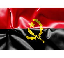 Angola Flag Photographic Print