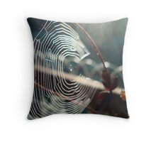 Circular contemplation Throw Pillow