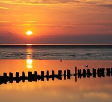 Sunset Wadden Sea by Jo Nijenhuis