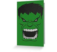 Hulk Face Greeting Card