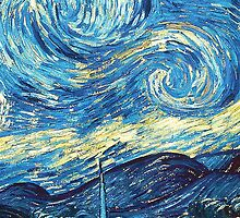 Starry Night Vincent Van Gogh by rachelkatz