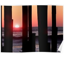 Sunrise Under the Pier Poster