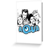 Aqua Greeting Card