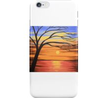 The Enchanted Lake picture spring abstract art wall canvas landscape poppies texture impasto art iPhone Case/Skin