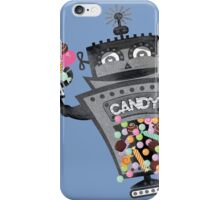 Retro robot colorful candy machine iPhone Case/Skin