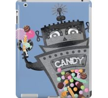 Retro robot colorful candy machine iPad Case/Skin